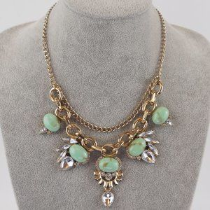 Jewelry - Chunky Mint Green Faux Crystal Statement Necklace